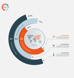 circle infographic template with 3 options vector image vector image