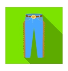 Cowboy jeans icon in flat style isolated on white vector image vector image