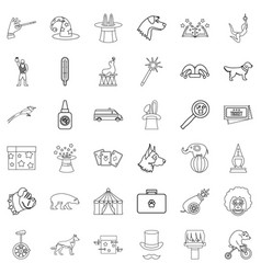 forest icons set outline style vector image