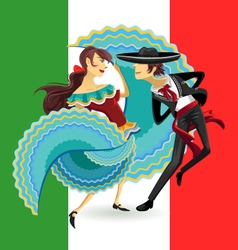 Jarabe mexico national dance mexican hat dance vector