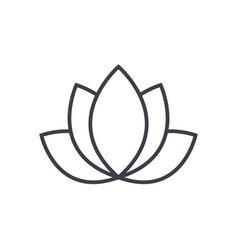 lotusindia line icon sign vector image vector image