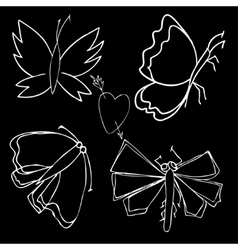 Set of butterflies Insects vector image vector image
