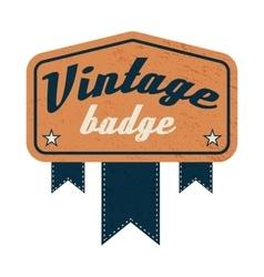 Vintage badge label on a white background vector image
