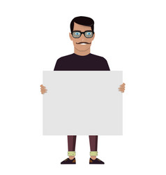 cartoon character on a white background man keeps vector image vector image