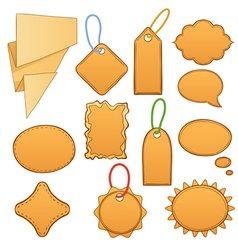 cartoon label tags vector image vector image