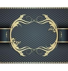 Elegant golden frame banner ornamental vector image vector image