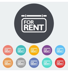 For rent Single icon vector image