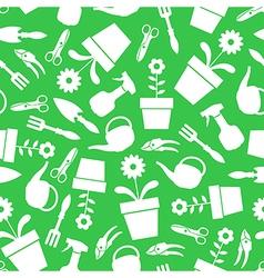 garden pattern green vector image