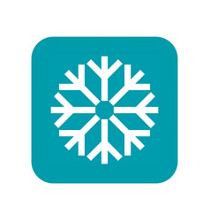snow snowfall and snowflake flat icon weather vector image