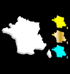 3d map of france vector image