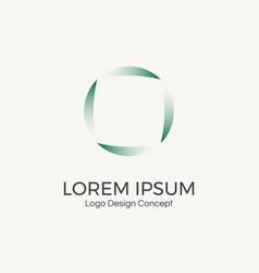abstract circular logo vector image