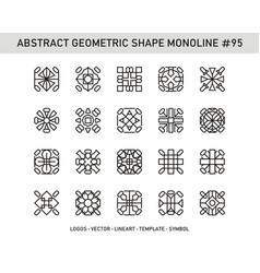 Abstract geometric shape monoline 95 vector
