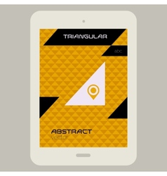 Abstract ui template with Tablet PC on triangular vector