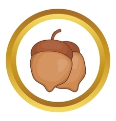Acorns icon vector image