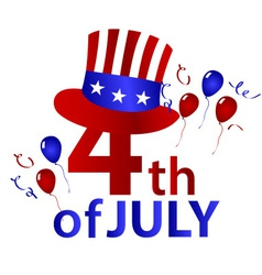 american independence day with hat celebration vector image