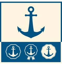 Anchor icon set vector image vector image
