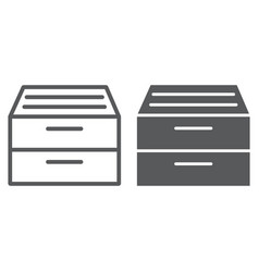 archive storage line and glyph icon office vector image