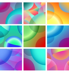 background abstract glow design set vector image