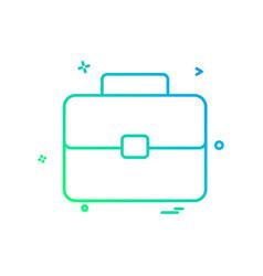 bag school icon design vector image