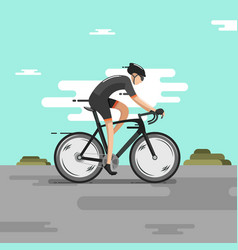 Bike racing with fast speed vector