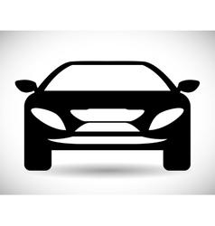 Black car icon Transportation design vector image