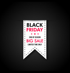 black friday sale banner design discount tag vector image