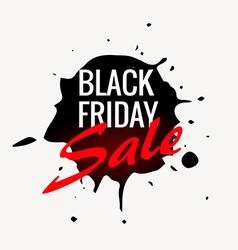black friday sale label design in ink splash vector image