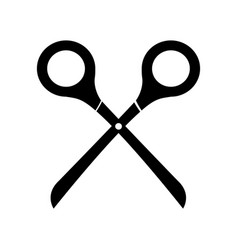 black icon scissors cartoon vector image