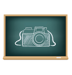 blackboard photo camera vector image