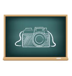 blackboard photo camera vector image vector image