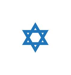 Blue star david icon israel symbol vector
