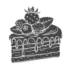 Cake glyph icon vector
