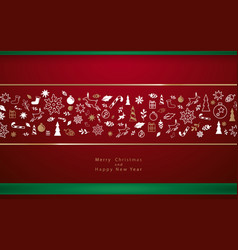 christmas decorative winter elements background vector image