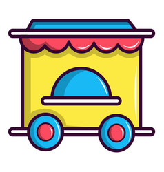 Circus ticket booth icon cartoon style vector