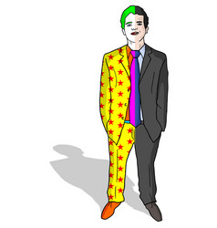 clown man vector image