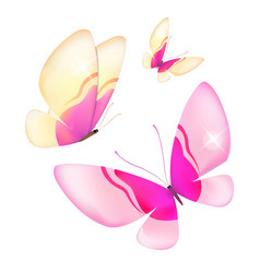 Color butterfliesisolated on a white background vector