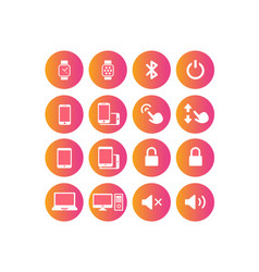 colorful gradient device and design element icon vector image