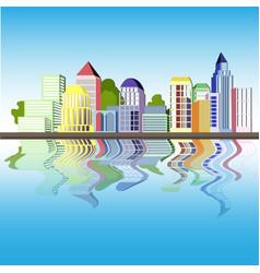 colorfull urban vector image