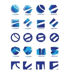Company logo icon set vector image