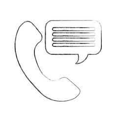 customer service phone bubble speech talking vector image