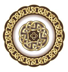 Decorative porcelain plate for table asset ornate vector