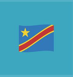 democratic republic of the congo flag icon in vector image