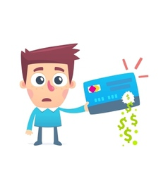 Disappearance of money from credit card vector image