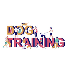 Dog training typography banner template vector