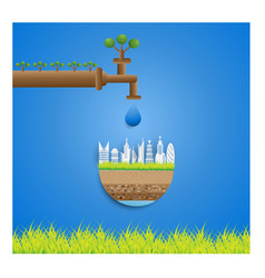 ecology concept eco friendly and save the earth vector image