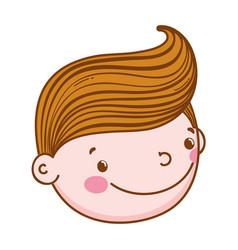 Fiance head male cute cartoon vector