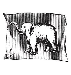 Flag of siam 1881 vintage vector