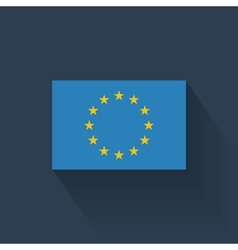 flat flag european union vector image