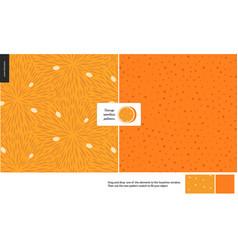 Food patterns fruit orange vector