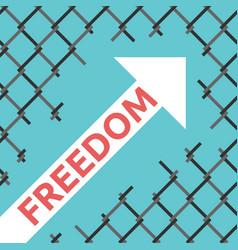freedom arrow wire mesh vector image